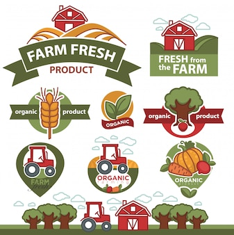 Etykiety na produkty rolne.