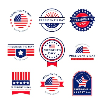 Etykiety na wydarzenie z okazji dnia prezydenta