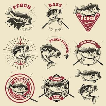 Etykiety połowów basowych