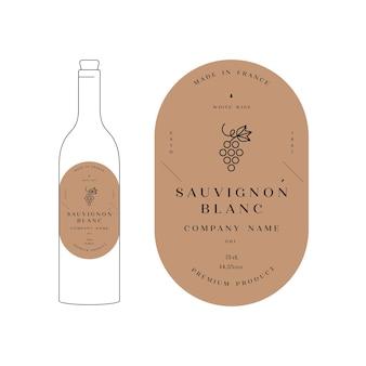 Etykiety projektowe ilustracji dla ilustracji wina