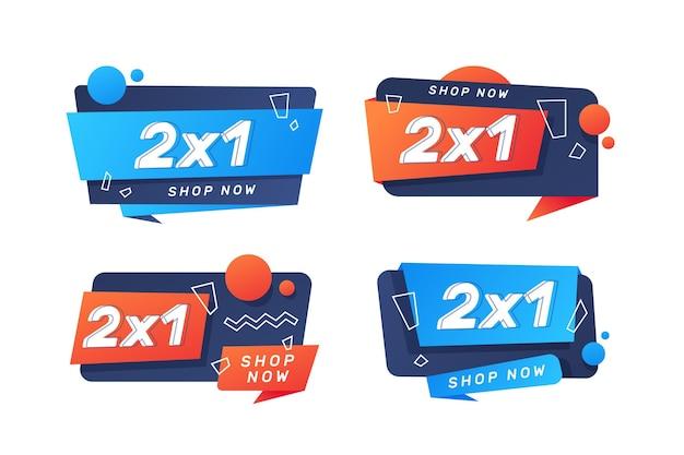 Etykiety promocyjne 2x1