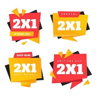 Etykiety promocyjne na paczkę zakupów