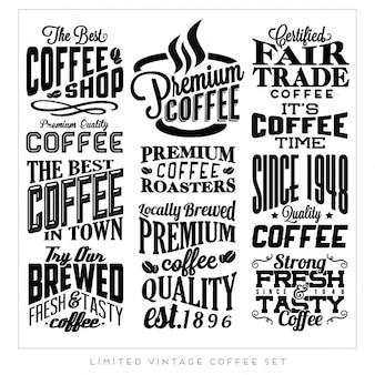 Etykiety retro vintage kawy