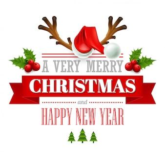 Etykiety świąteczne, emblematy, elementy dekoracyjne, karty z pozdrowieniami
