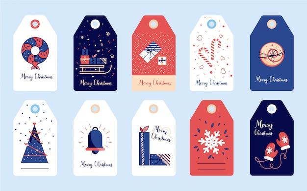 Etykiety świąteczne i noworoczne