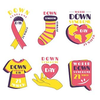 Etykiety światowego dnia zespołu downa