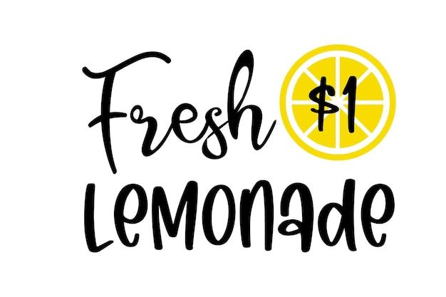 Etykiety świeżej lemoniady z cytryną