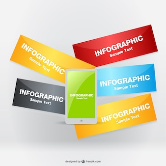 Etykiety wektor telefon infografika