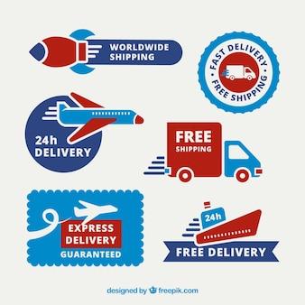 Etykiety wysyłkowe z transportami zabawnymi