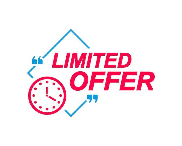 Etykiety z limitowaną ofertą dymki z ikoną zegara naklejki reklamowe i marketingowe