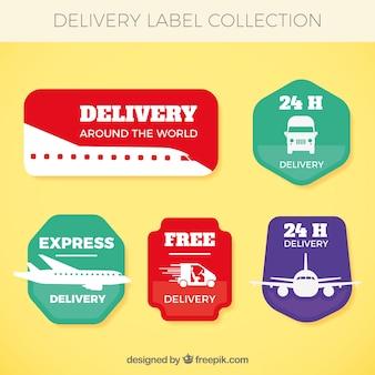 Etykiety z transportem