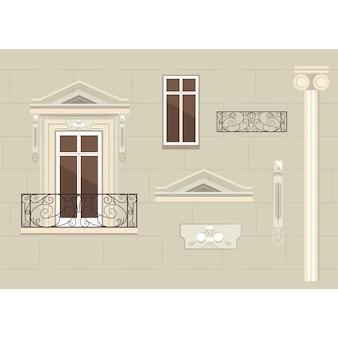 Europejska fasada budynku