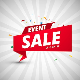 Event sale banners colorful design template