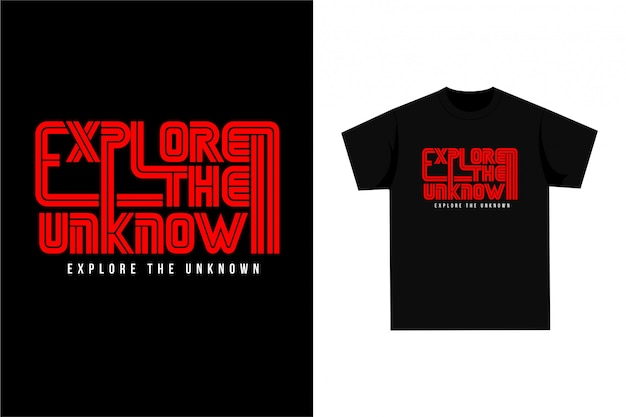Explore the unknown - t-shirt z grafiką