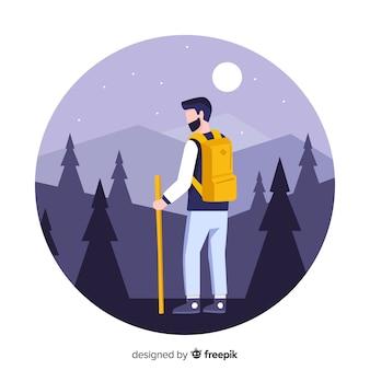 Explorer z plecakiem