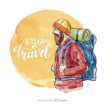 Explorer z tłem plecaka