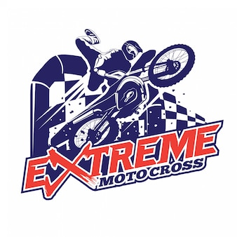 Extreme sport motocross