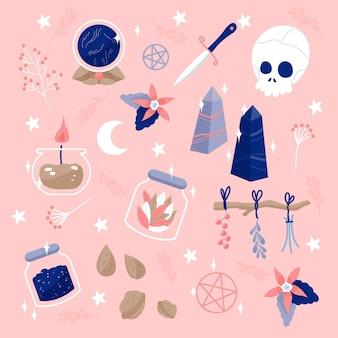 Ezoteryczne elementy ilustracja koncepcja