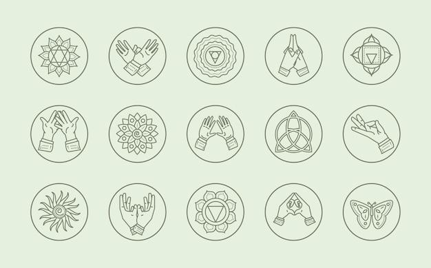 Ezoteryczny zestaw mantr liniowych jogi