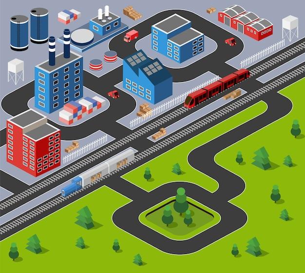 Fabryki, magazyny i budynki biurowe na obszarach miejskich dużych miast