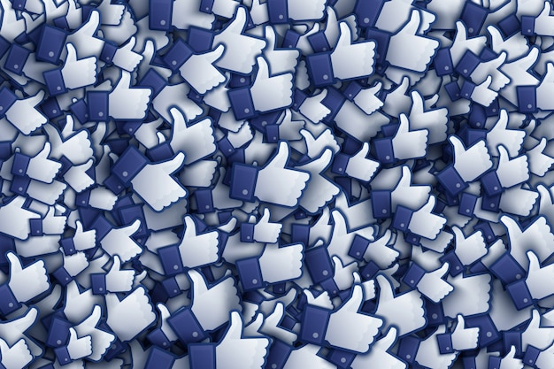 Facebook 3d jak ikony dłoni ilustracja sztuki