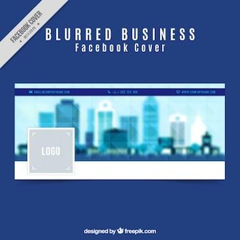 Facebook cover rozmytą miasta