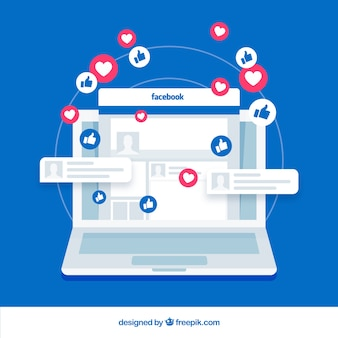 Facebook jak z urządzeniem elektronicznym