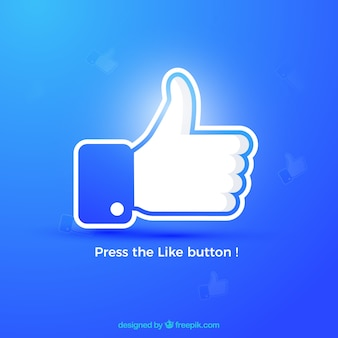 Facebook kciuk w górę jak tło w kolorach gradientu