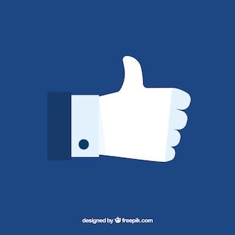 Facebook Kciuk W Górę Jak Tło W Stylu Płaskiej Darmowych Wektorów