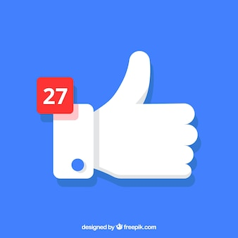 Facebook Kciuk W Górę Tło Z Powiadomieniem Darmowych Wektorów