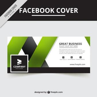 Facebook pokrywa z białym tłem i geometrycznych kształtów