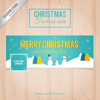 Facebook turquoise świąteczne okładki