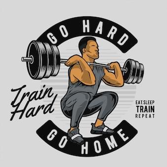 Facet ciężka waga