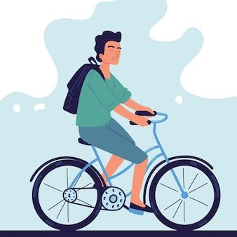 Facet na rowerze