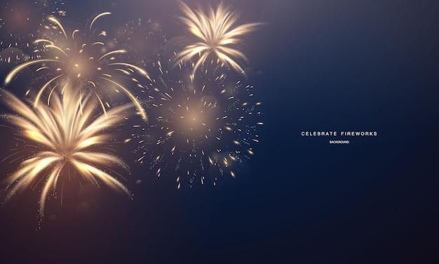 Fajerwerk i boże narodzenie tematyczne uroczystość 2022 szczęśliwego nowego roku projekt tła.