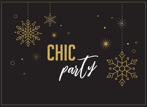 Fajerwerki i tło uroczystości, plakat z zaproszeniem na przyjęcie, baner