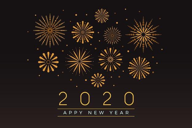 Fajerwerki nowego roku 2020 tło