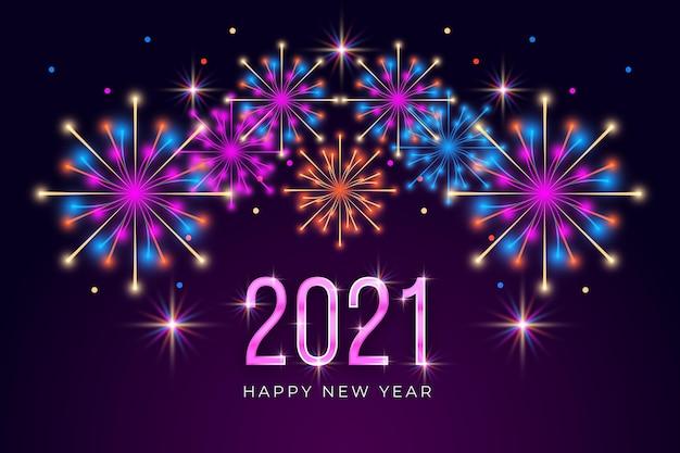 Fajerwerki nowy rok 2021 tło
