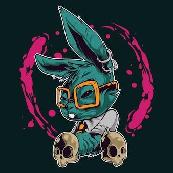Fajna ilustracja królik
