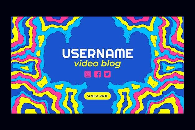 Fajna, psychodeliczna sztuka kanału youtube