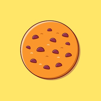 Fajne ciasteczka z czekoladowym płaskim wektorem ilustracji