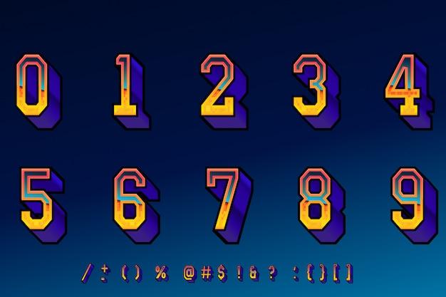 Fajne liczby gier komputerowych w stylu retro