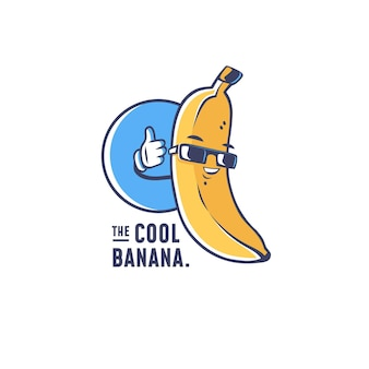Fajne logo postaci banana