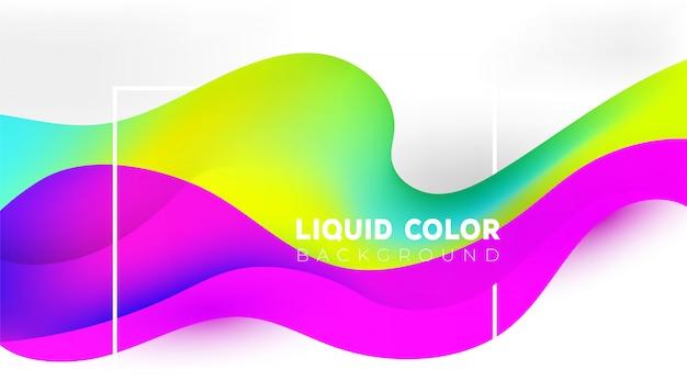 Fajne nowoczesne gradienty z płynnym falistym tle kreatywnych