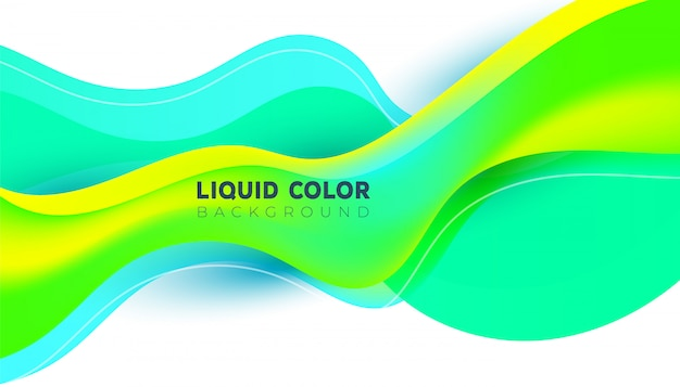 Fajne nowoczesne modne jasne kolory gradientu z abstrakcyjnym tle płynnych kształtów