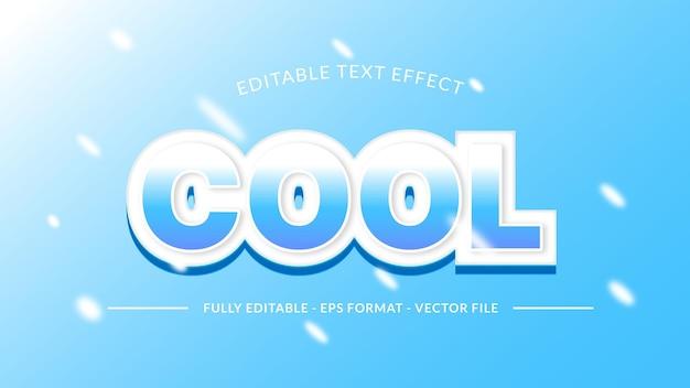 Fajny efekt tekstowy z lodowym dotykiem