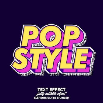 Fajny fantazyjny efekt tekstowy pop-artu