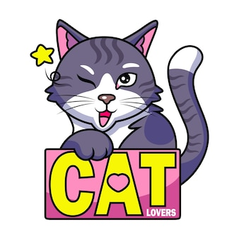 Fajny kot z zabawnym wyrazem twarzy