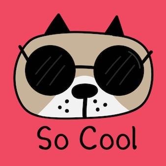 Fajny pies z okulary wektor ilustracja.