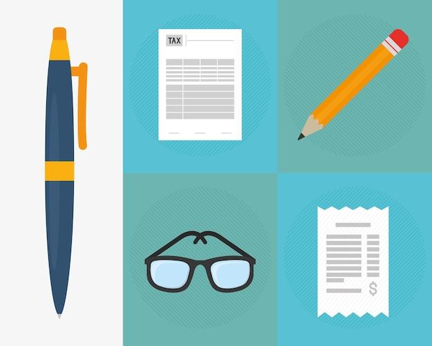 Faktury i elementy biurowe